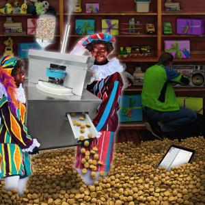 Sint en Piet: Proef uit de pepernotenprinter!